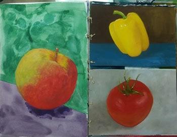 art journal benefits with a kitchen journal