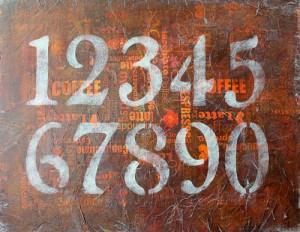 DIY Wall Art - Numbers