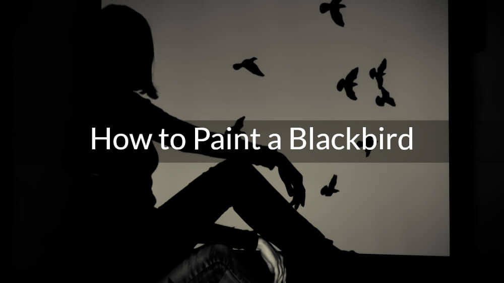 How to Paint a Blackbird on a Black Surface – The Raven
