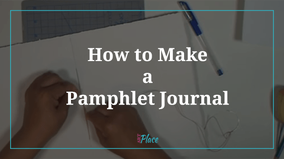 How to make a pamphlet journal - blog