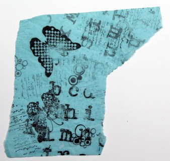 stamped printed tissue 16