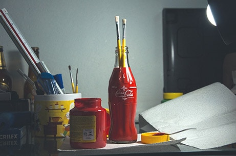 use what you have for mixed media supplies