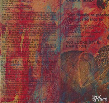 Collage Old Book Papers in Book of Backgrounds 2016 Number 13