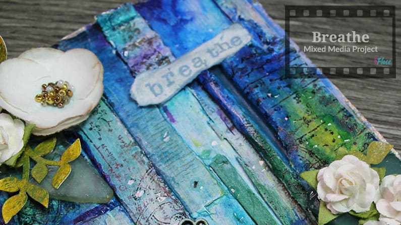 How to Create Mixed Media with Cardboard, Glass and Flowers