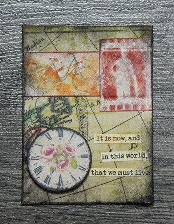 artist trading card - live in this world
