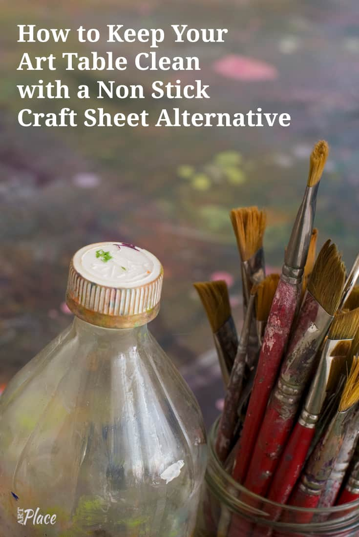 Using a non stick craft sheet is a great tool to help keep your art table clean. In this video, I'm sharing what I'm using and why I'm using it.. low price of course.