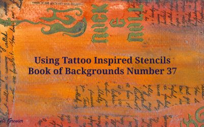 Using Tattoo-Inspired Stencils Book of Backgrounds 2016, #37