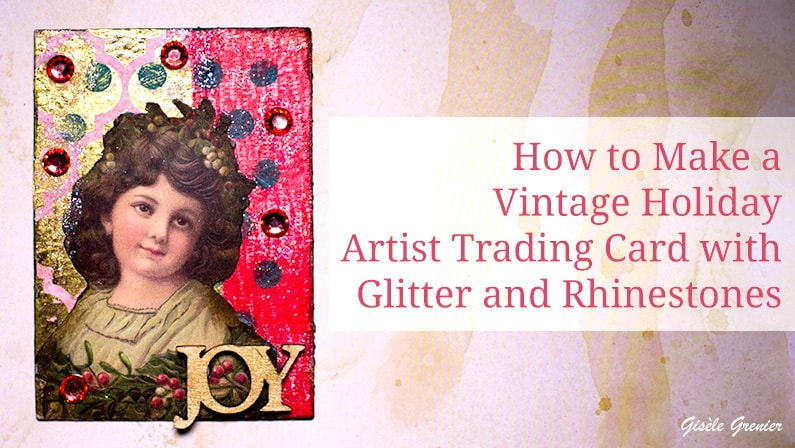 vintage holiday artist trading card