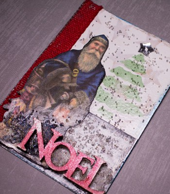 christmas artist trading card