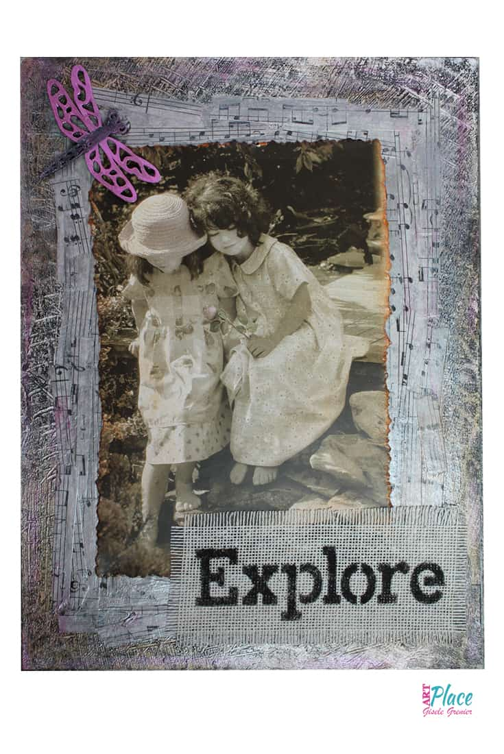 How to Turn a Photo into Mixed Media Wall Art or a Greeting Card...the choice is yours.