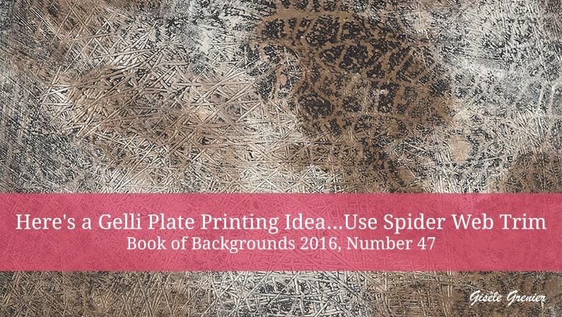gelli plate printing idea