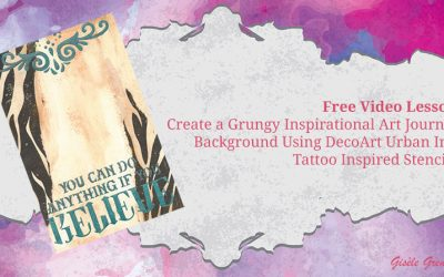 Create an Inspirational Art Journal Background using Tattoo Inspired Stencils – Book of Backgrounds 2016, Number 38
