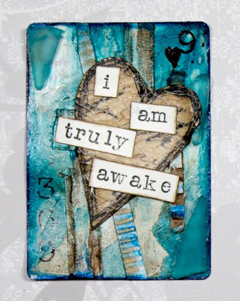 easy art card and mixed media playing card