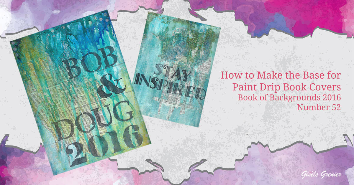 How To Make A Book Cover And Content Page : How to make a paint drip book cover free video