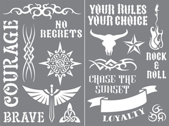 tattoo-inspired stencils