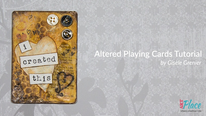 altered playing card