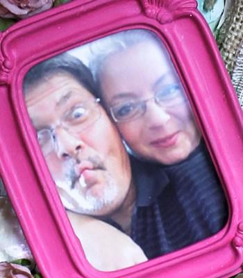 photos in mixed media - Joe and Gisele