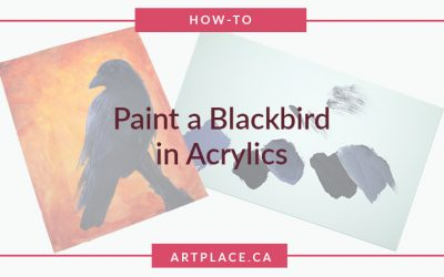 How to Paint a Blackbird with a Firey Background in Acrylics