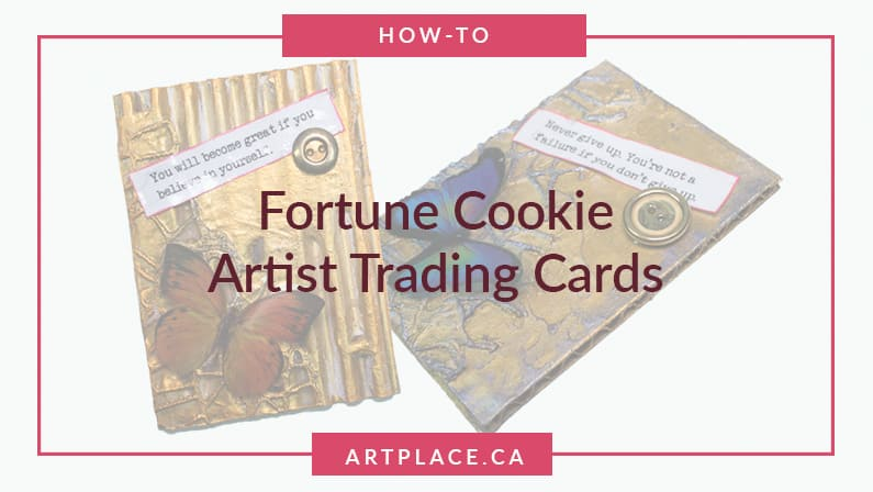 How to Make Fortune Cookie Artist Trading Cards with Butterflies