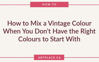 How to Mix a Vintage Colour When You Don't Have the Right Colours to Start With
