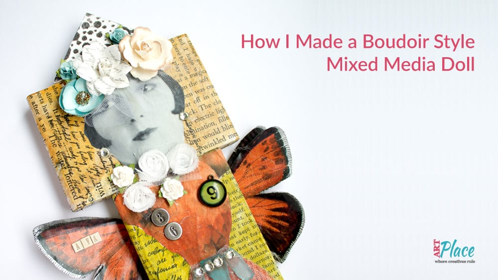 How I Made a Mixed Media Doll from Wood Blocks
