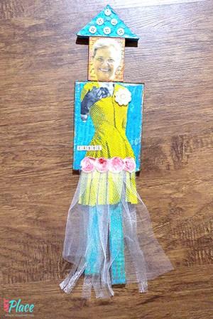 mixed media doll named carol