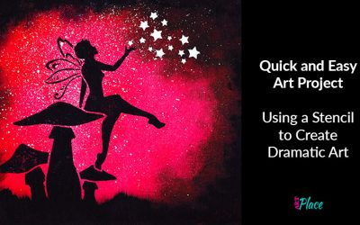 Using a Stencil to Create Dramatic Art – Quick and Easy Art Project