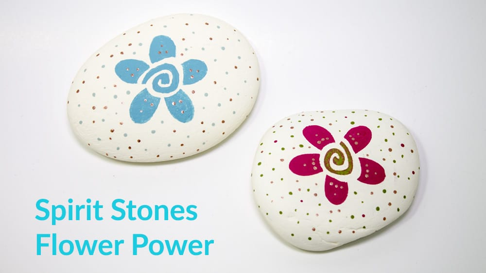 Painting on Rocks - spirit stones flower power