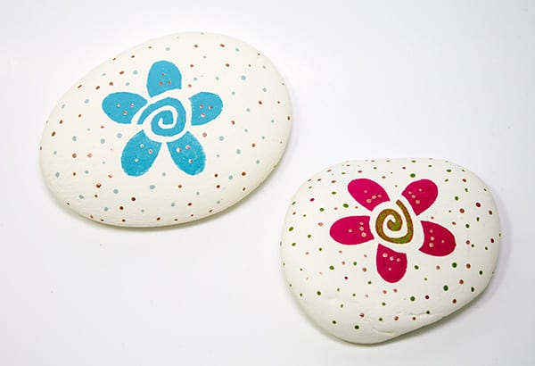 painting on rocks spirit stones flower power