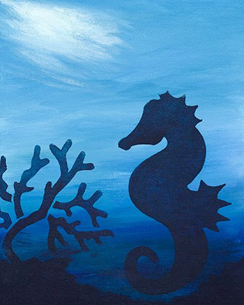 Create Silhouette Wall Art - Dreaming of a Seahorse