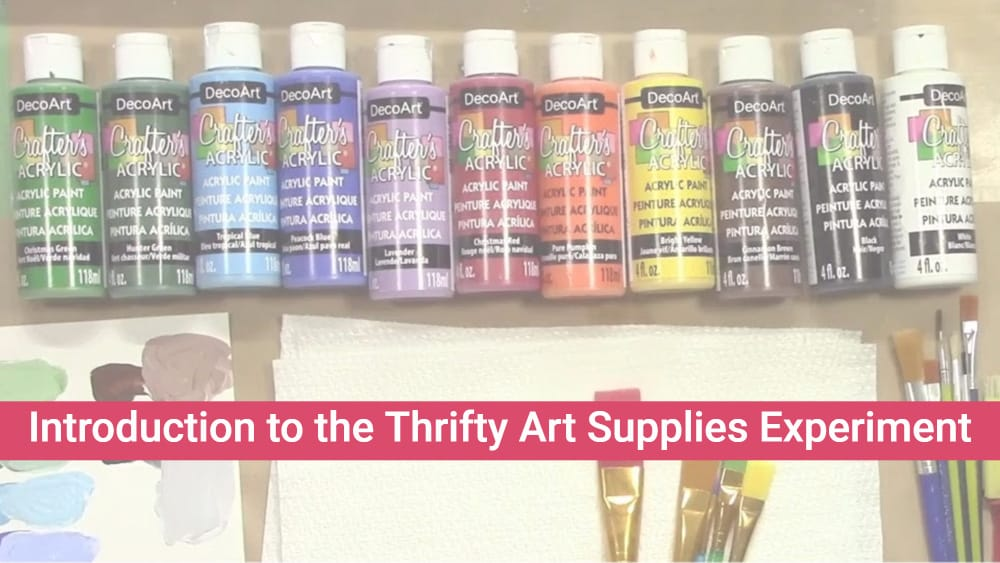 Introduction to the Thrifty Art Supplies Experiment