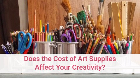 does the cost of art supplies affect your creativity