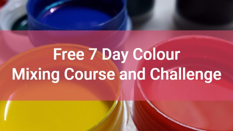 free 7 day colour mixing course and challenge
