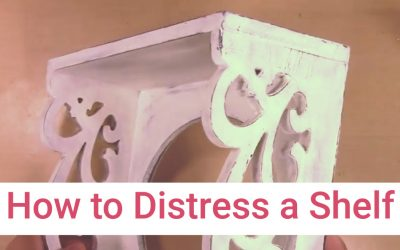 How to Distress a Small Wall Shelf for a Country Farmhouse Look