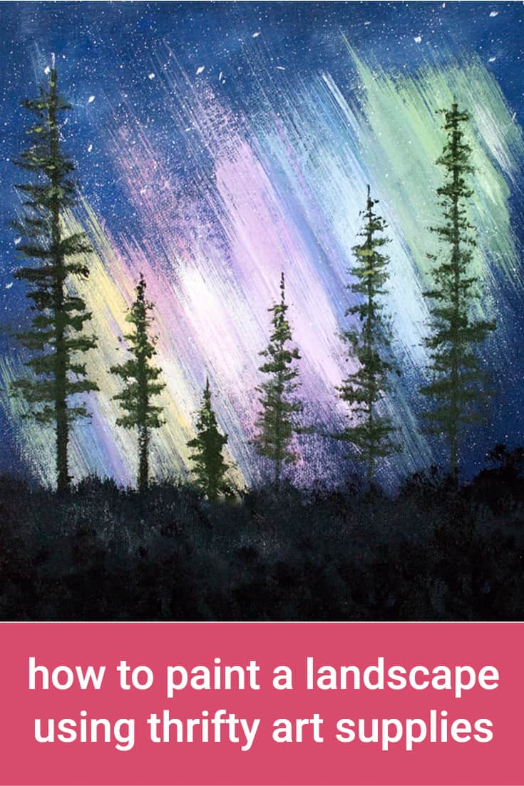 In this art supplies experiment, you  will learn how to paint a landscape using supplies found at the Dollar Store.  I'll be using DecoArt Crafter's Acrylics & Dollar Store brushes.
