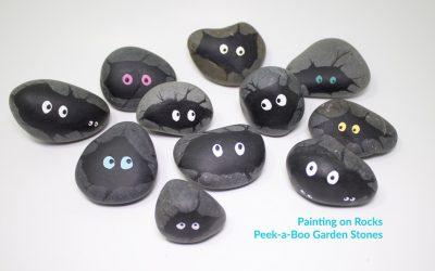 Painting on Rocks – Peek a Boo Garden Stones