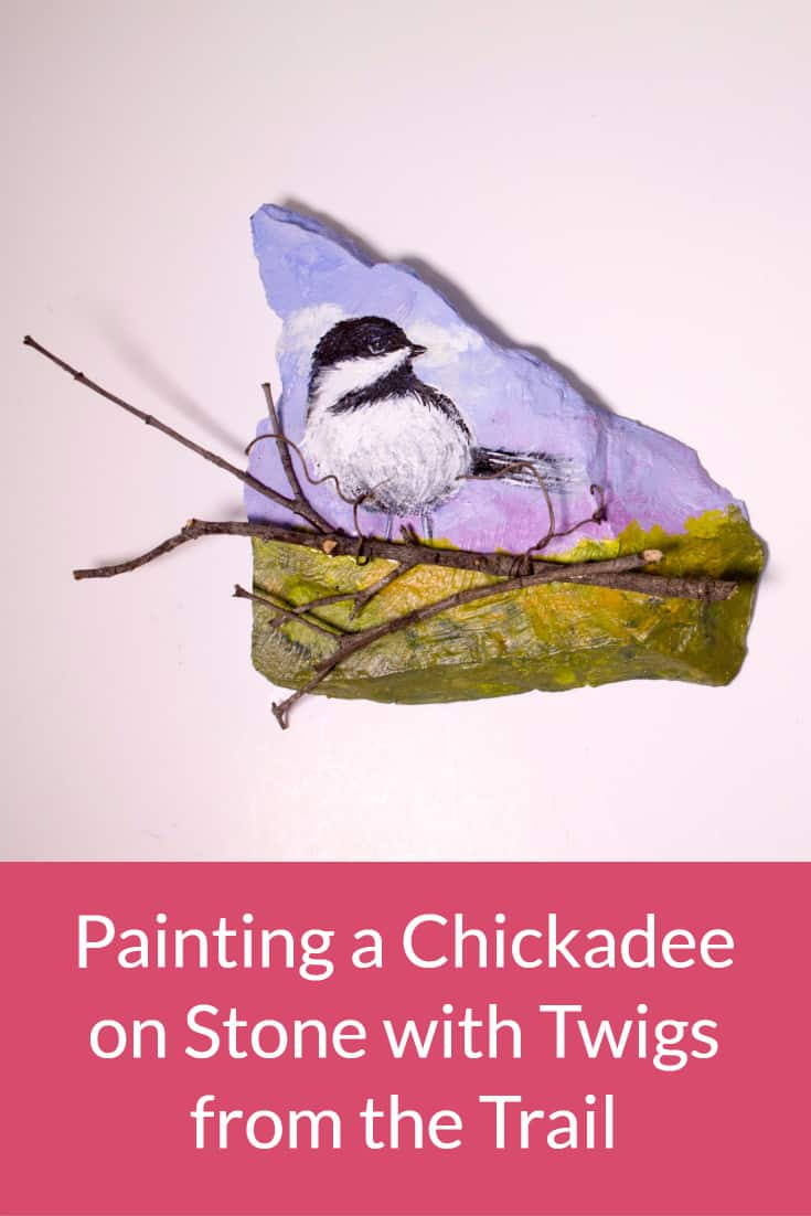 This painting a chickadee tutorial is ideal if you are just getting started with mixed media.