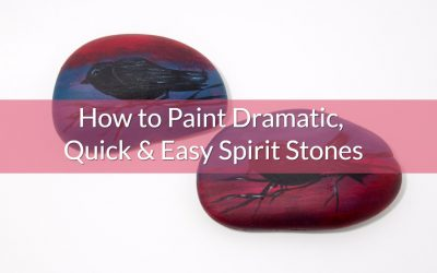 How to Paint Silhouette Garden Stones