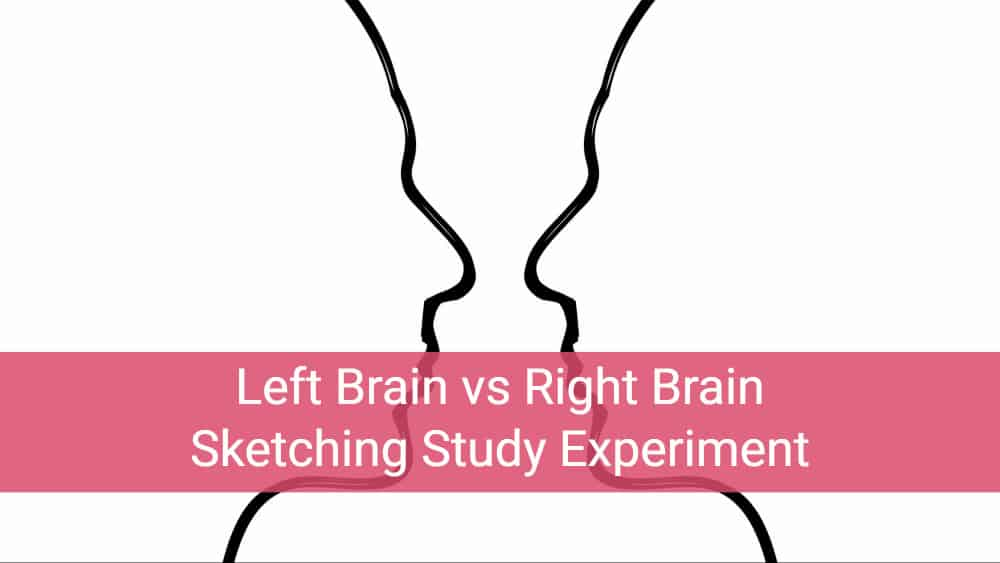 Left Brain vs Right Brain Sketching Study Experiment – come on, I dare you to try it.