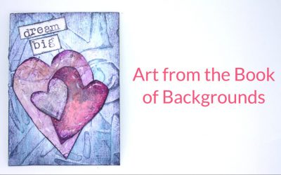 Quick and Easy Artist Trading Card from Book of Backgrounds – Dream Big