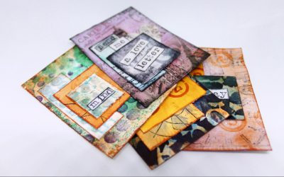 4 Artist Trading Cards from Painted Backgrounds – Book of Backgrounds Ideas