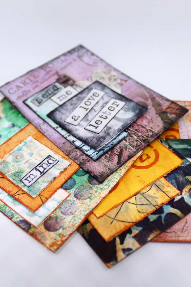 Quick and Easy Artist Trading Cards Using Only Painted Backgrounds