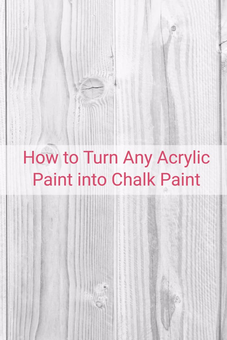 Wanted to try an experiment if I could take acrylic paint and turn it into chalk paint.