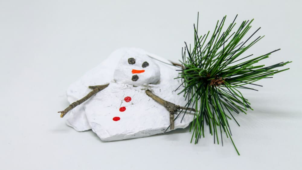 The Demise of Frosty the Snowman – Miniature Rock Statue