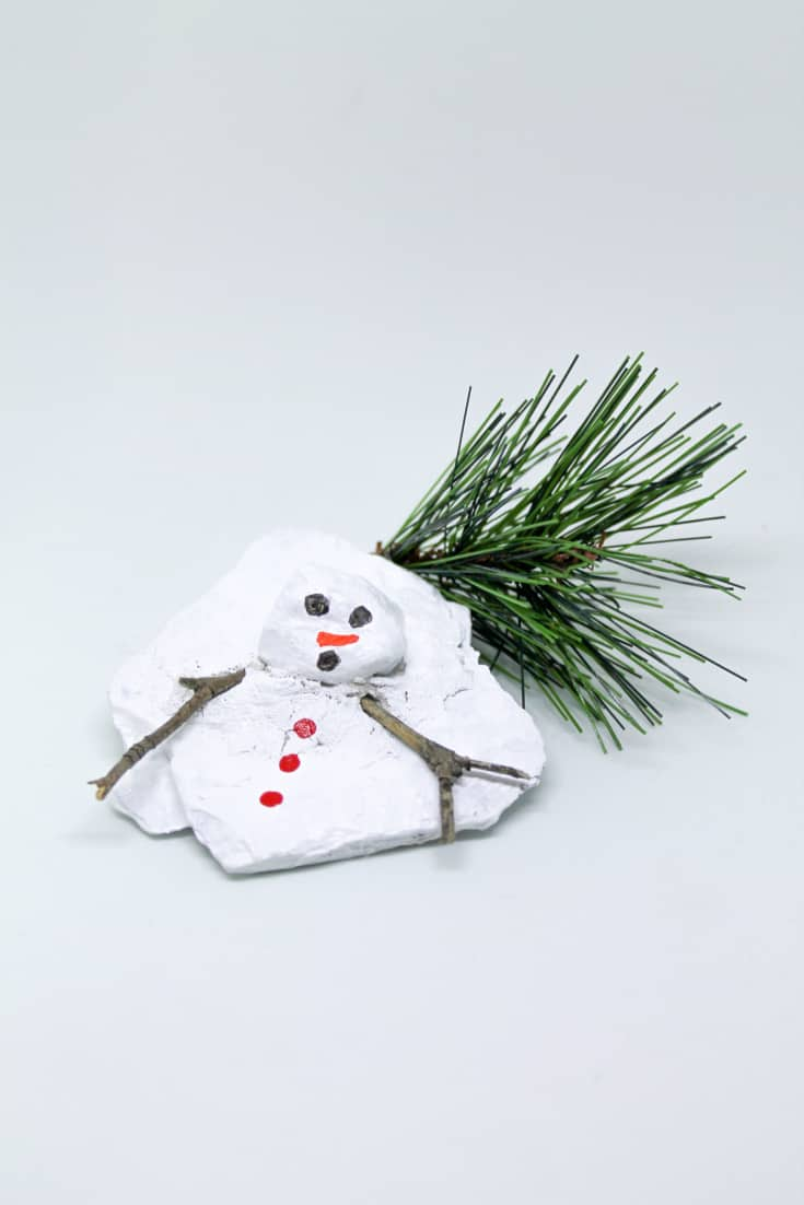 Quick and Easy DIY Christmas Gift Idea - Miniature Rock Sculpture, The Demise of Frosty the Snowman