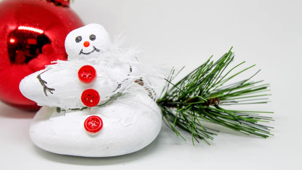 Create an Easy Snowman Rock Statue