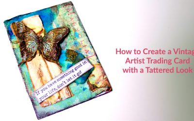 How to Create a Vintage Artist Trading Card with a Tattered Look