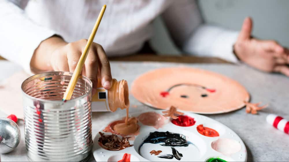 painting portraits with craft paint
