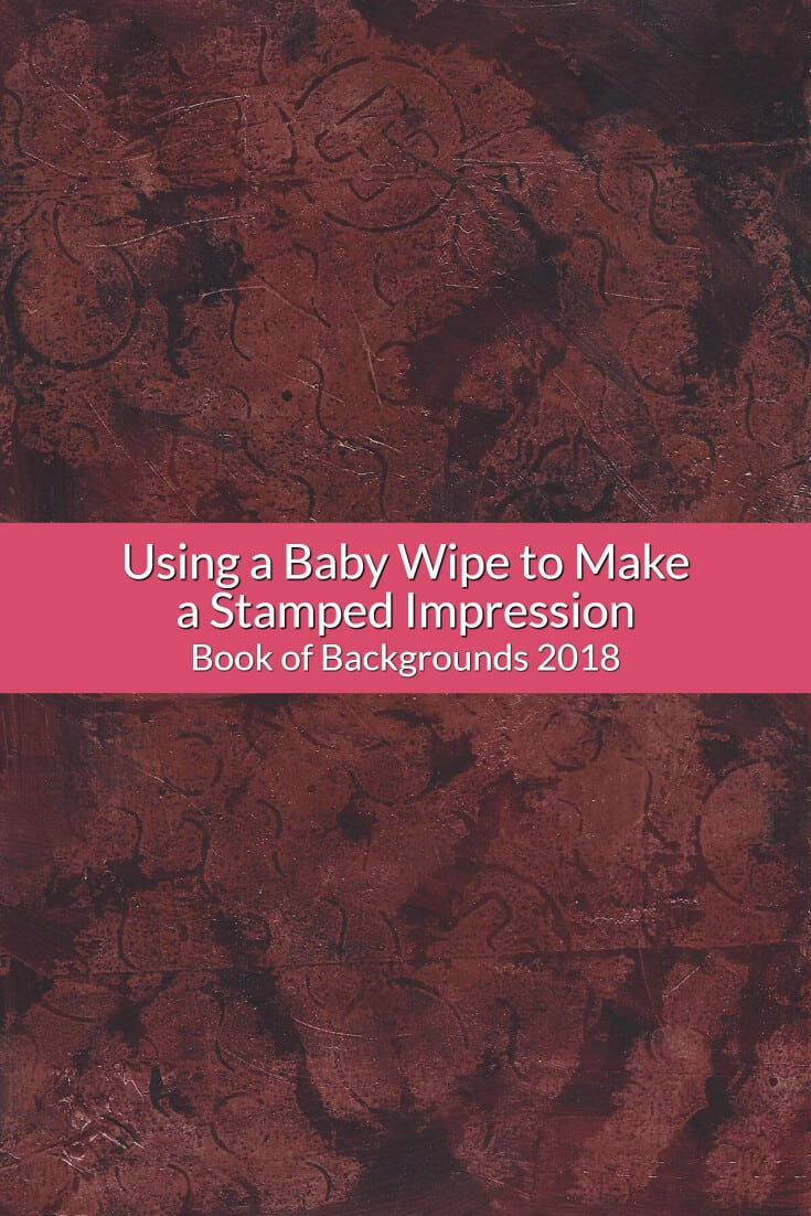 Learn how to use acrylics and metallic paint to create a tarnished background and witness a happy accident when I use a baby wipe to lift up some paint.