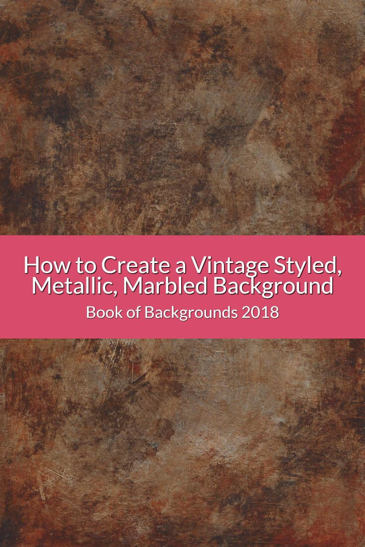 Learn how to create a vintage styled, metallic marbled background which can be used as a background and on 3d objects, such as a tray or vase.
